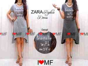 Dress zara - bahan kaos _ ukuran allsize fit L - harga 80.000