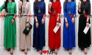 Maxi rayon + belt (6 colours) bahan rayon - allsize fit L - harga 105.000