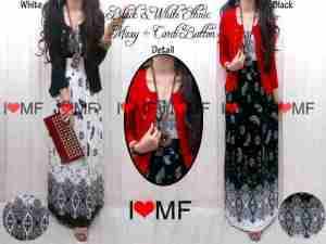 Maxi rayon + cardy kaus - allsize fit L harga 120.000